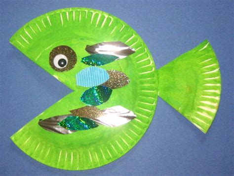 Paper Plate Craft - paper plate fish on paper plate animals
