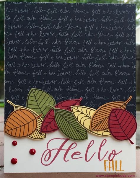 handmade hello fall card stin buds with ctmh