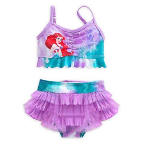 Disney And The Beast Swimsuit Size 5 6 disney store princess the mermaid ariel 2 pc swimsuit size 4 5 6 7 8 ebay