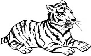 ausmalbild sitzender tiger kostenlos zum