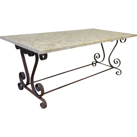 Wrought Iron Coffee Table Provencal Wrought Iron Coffee Table Sold On Ruby