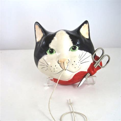 Cat String - cat string holder by babbacombe pottery