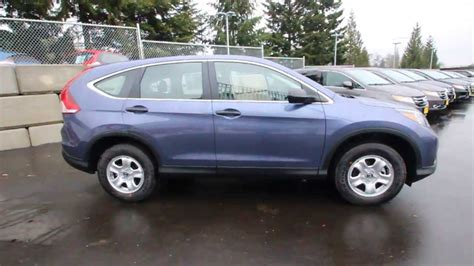 Honda Crv 2014 Interior 2014 Honda Cr V Lx Twilight Blue Eg702581 Seattle