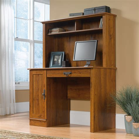 sauder computer desk with hutch sauder 404961 harvest mill computer desk with hutch atg