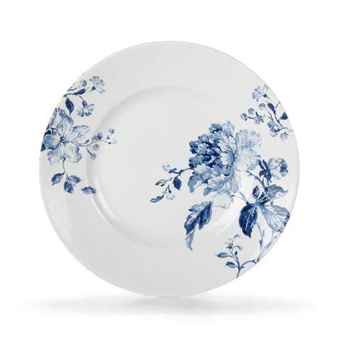 Tapis Violet Alinea by Alinea Pe Assiette Dessert En Grs Avec Motifs Bleus Bleu