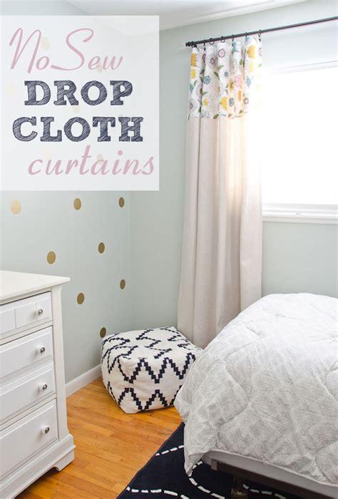 no sew drop cloth curtains diy no sew drop cloth curtains the golden sycamore