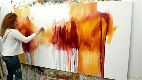 acrylic painting abstract demo abstract acrylic painting demo abstrakte malerei
