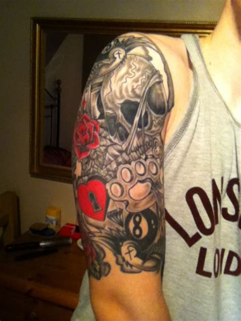 Old School Tattoo Half Sleeve   best 25 old school sleeve ideas on pinterest