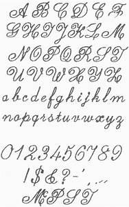Fancy Cursive Fonts Alphabet Letters