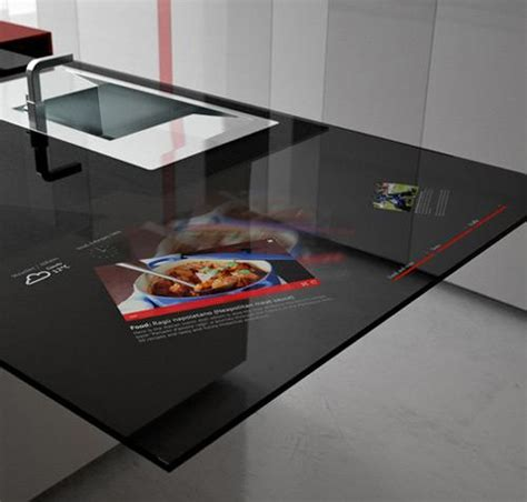 toncelli s prisma smart kitchen has embedded galaxy tab