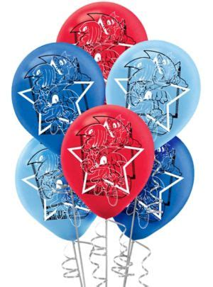 Sonic the Hedgehog Balloons 6ct - Party City Luau Food Ideas For Party