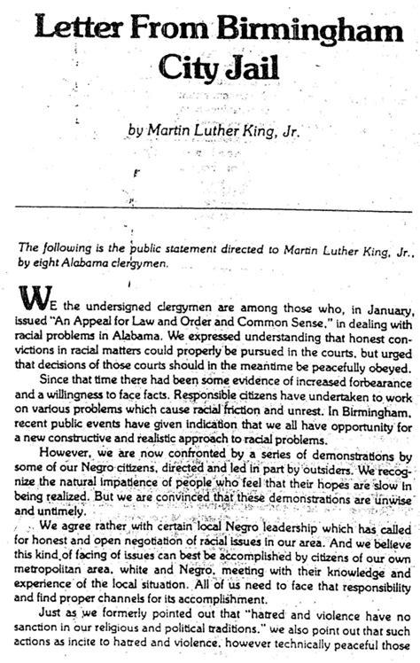 Martin Luther King Jr Birmingham Letter Summary by Happy Birthday Martin Luther King Jr Learn Fly