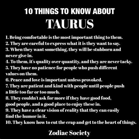 10 things to know about taurus zodiacsociety taurus