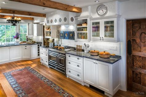 Kitchen Tile Flooring Ideas Pictures mediterranean style kitchen with transitional white