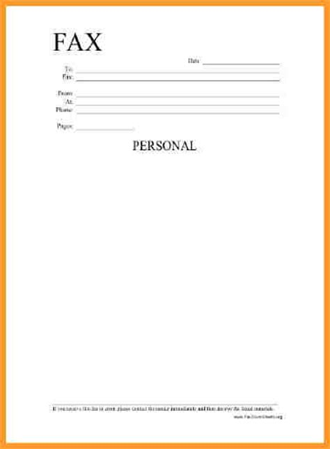 Blank Fax Cover Letter by Printable Blank Fax Cover Sheet Letter Format Mail