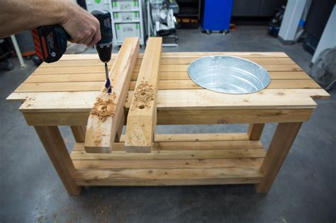 homemade potting bench how to make a gardener s potting bench how tos diy
