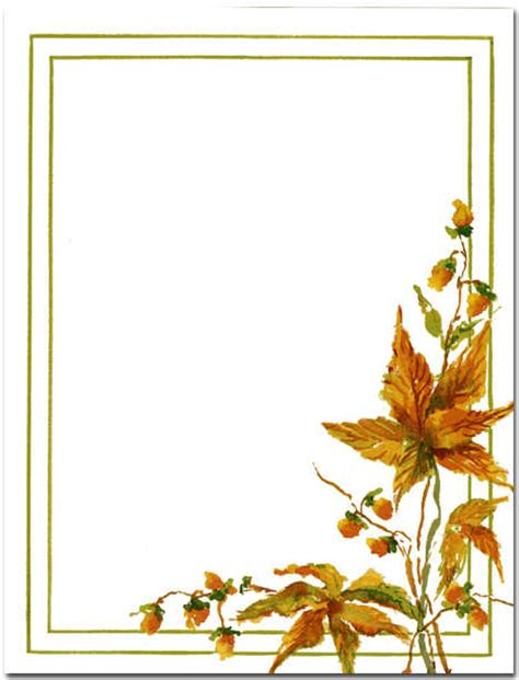 printable fall stationery paper 5 best images of free fall printable stationery free