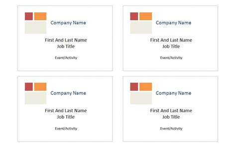 name badges templates microsoft word compatible iwth avery name badge template