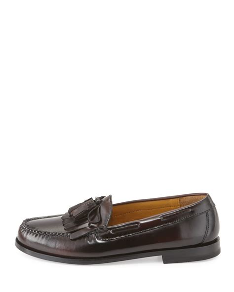 cole haan tassel loafers cole haan pinch polished leather tassel loafer for lyst