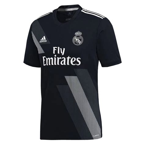 Polo Shirt Real Madrid Cl Black real madrid 2018 19 away black shirt soccer jersey