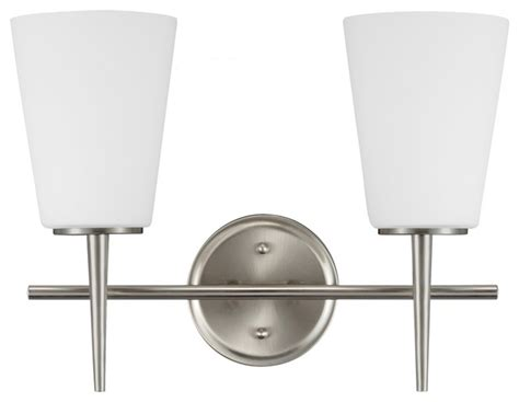Bathroom Wall Sconces Brushed Nickel 2 Light Driscoll Wall Sconce Brushed Nickel