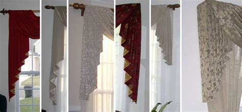 Swag Valances For Windows Designs Custom Window Sconces I Swag Curtains I Cascades Windows Dressed Up