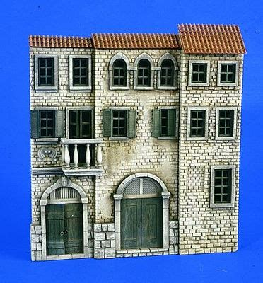 Story House Productions by Italian 3 Story House Front Resin Diorama Kit 1