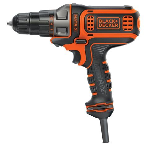 black decker matrix 4 3 8 in corded drill and driver