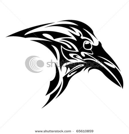 raven tribal tattoo would like with more celtic knot less tribal