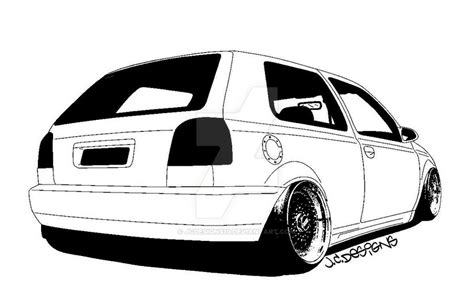 stanced cars drawing vw golf mk3 drawing by jcdesigns10 on deviantart pinteres