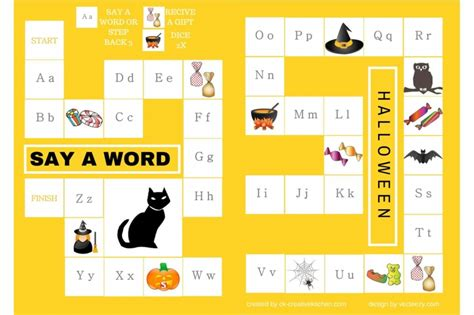 printable alphabet board games halloween alphabet board game free printable creative