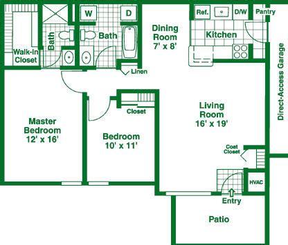 2 bedroom floor plan granite property management co
