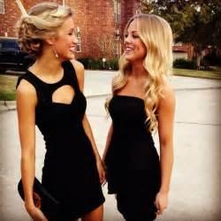 Short dress girl blonde hair style elegant semi formal open