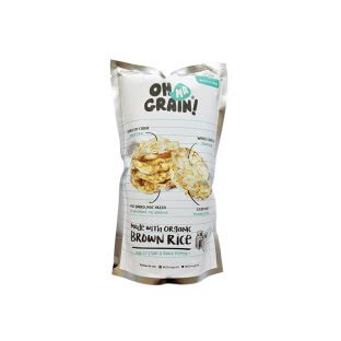 Oh Ma Grain Popped Rice Crackers harga oh ma grain popped rice crackers salt black