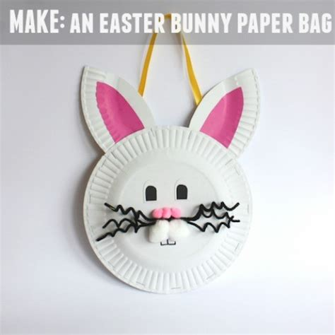 How To Make A Bunny Out Of Paper - make an easter bunny paper bag handmade kidshandmade