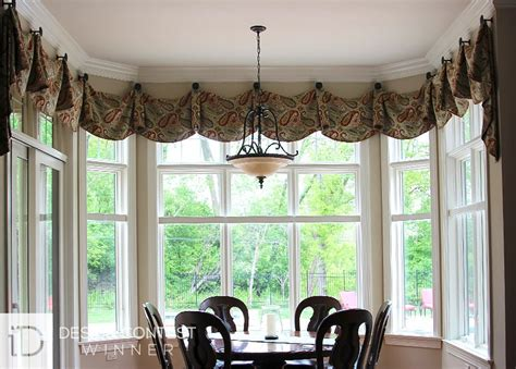 Window Scarves For Large Windows Inspiration Bay Window Coverings Treatments For Bay Windows Budget Blinds