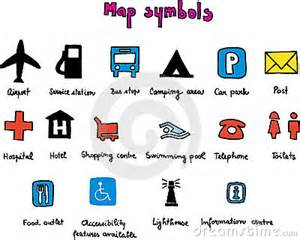us highway map symbols map symbols stock photo image 6021340