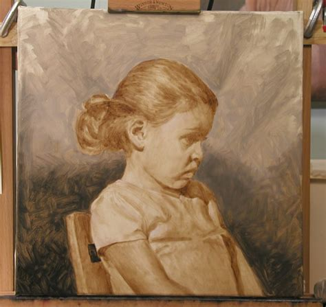 watercolor underpainting tutorial oil portrait demonstration by alan dingman oil painting