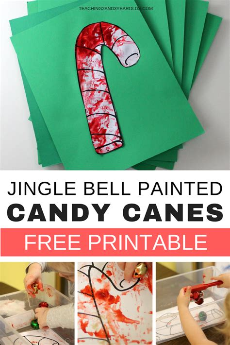 christmas crafts for 3 year old easy preschool craft using jingle bells free printable