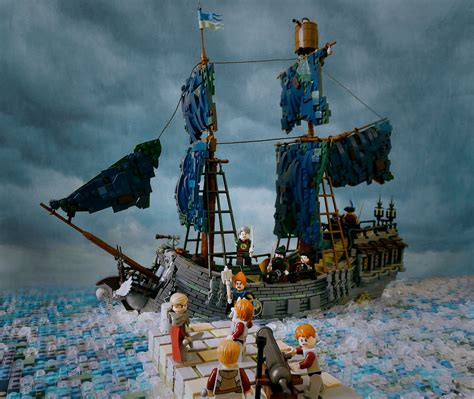 Lego Brick Wange Ship 040330 attack of the bluish grey pearl jonathan was breat flickr