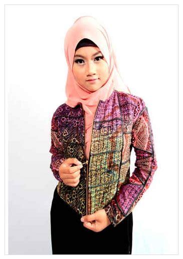 Baju Resmi Kantor Kuliah contoh model baju batik muslim wanita kantor 2016