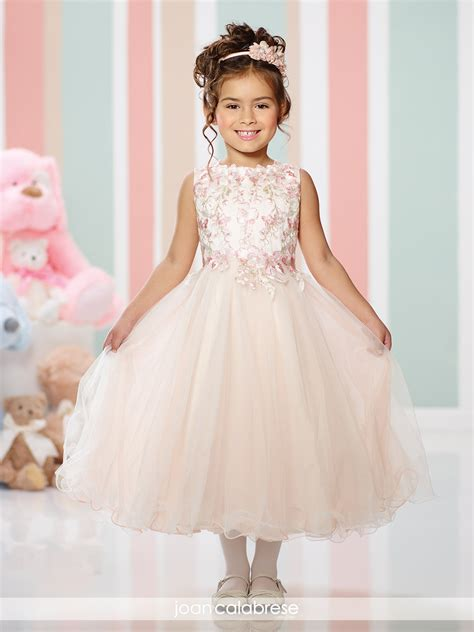design flower girl dress online joan calabrese style 216300 lace bodice flower girl