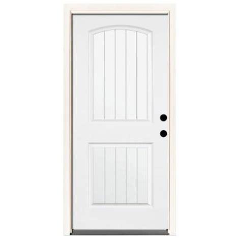 32 X 73 Exterior Door Steves Sons 32 In X 80 In Premium 2 Panel Plank Primed White Steel Prehung Front Door With