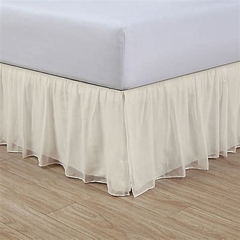bed skirts bed bath and beyond cotton voile 15 inch bed skirt bed bath beyond