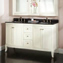 white vanity black top 60 quot palmetto white vanity black granite