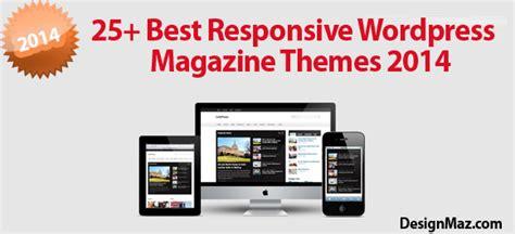 25 Best Responsive Wordpress Magazine Themes 2014 Designmaz 25 Free Premium Responsive Magazine