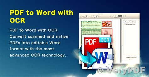 convert pdf to word using ocr verypdf pdf to word ocr converter does convert scanned pdf
