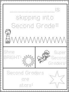 Second Grade Back to School Worksheets Booklet Printables
