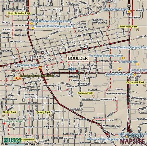 map of of colorado boulder boulder colorado mapsite