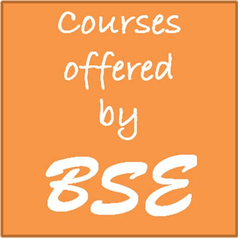 Mba Course By Bse by Courses Offered By Bombay Stock Exchange Bse Career